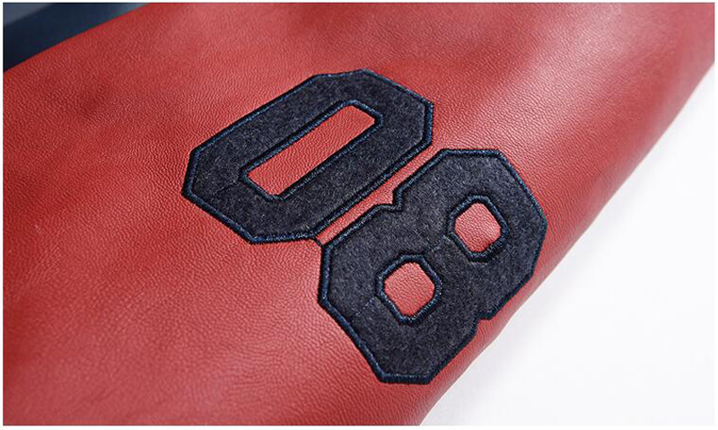 Jacket Men Embroidery Baseball Jackets Pu Leather Coats Slim Fit College Luxury Fleece Pilot Leather Jackets casaco masculino