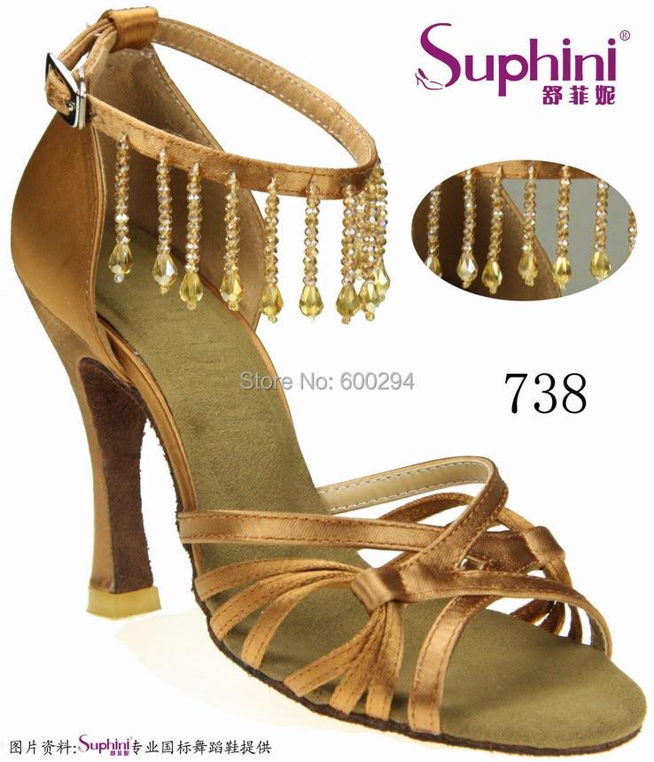FREE SHIPPING Suphini Tassel Dance Shoe High Heel Salsa Shoes Lady Pendant Party Dance Shoe