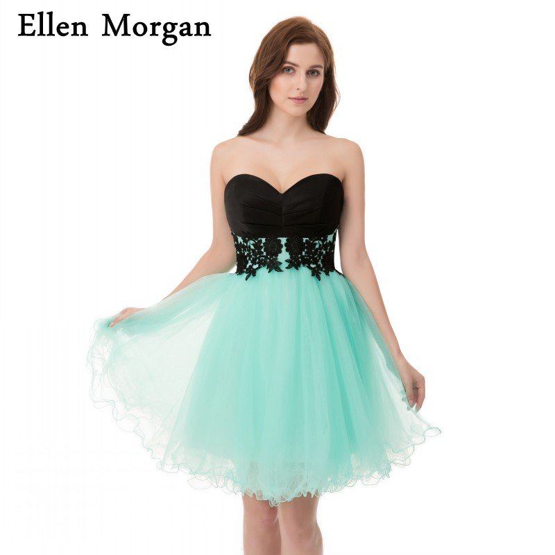 Billiga Korta Cocktail Klänningar Under 50 Sexiga Mini Tulle Korsett Blond Tillbaka Till Skolan Graduation For Girls 2018 Homecoming Party Dress