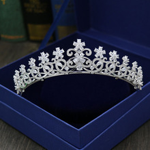 Fashion new Paved CZ Crown Cubic Zircon Tiara Princess Tiaras Wedding bride Hair Accessories Bride Hair Jewelry free shipping