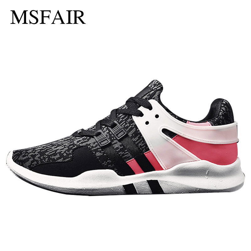 Msfair Breathable Mesh Running Shoes for Men Summer Breathable Mesh Male Walking Shoes Lightweight Men Sneakers Sport Shoes