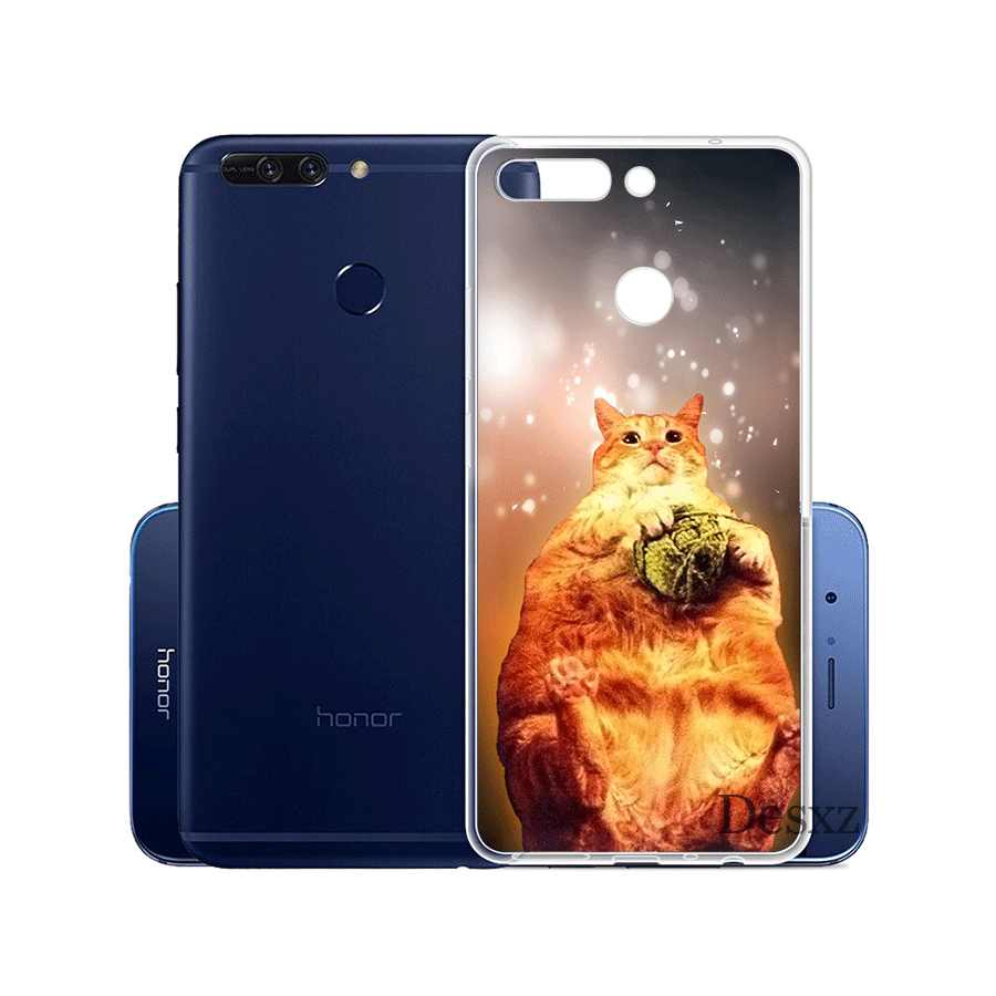 Gerleek פיצה חתול בחלל צבעוני טלפון Case כיסוי עבור Huawei Honor 6A 7C 7X9 10 9 לייט 7a 2 GB 3 GB 8X10 Lite קליפה קשה