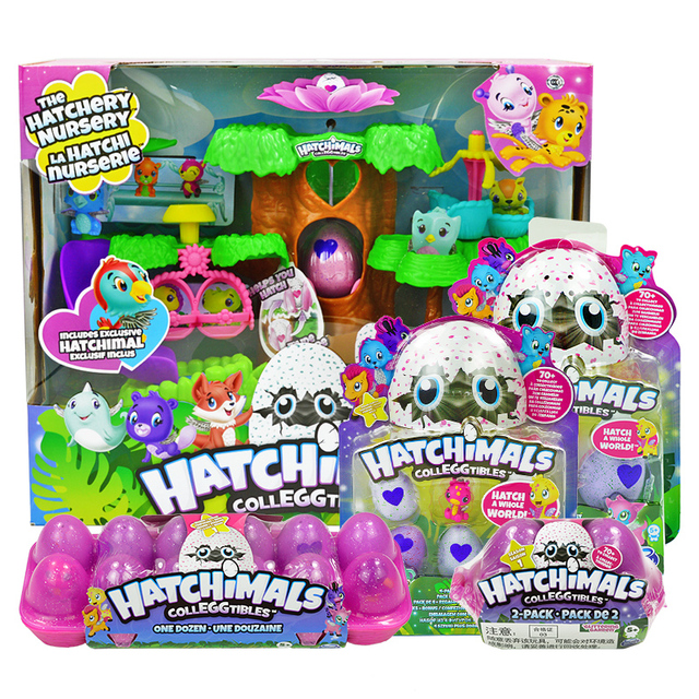 Hatchimals Eggs Cute Pets Mini Toys Birds Nest Nursery Playset With Colleggtibles Birthday For Kids Children Gift