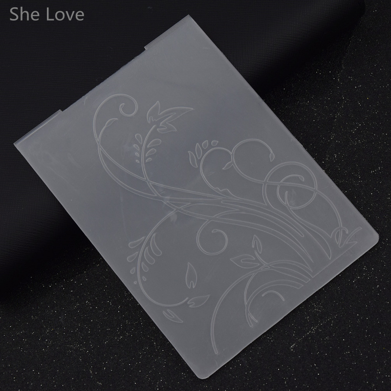 She Love Plastic Embossing Folder Grass Template Scrapbooking Paper Card Album Photo Painting Decor Craft plastic embossing foldet flower diy scrapbooking photo album card paper craft decoration template