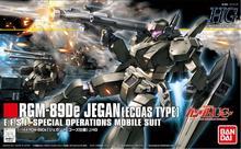 バンダイhgucガンダム1/144 RGM 89DE jegan組み立てるecoasタイプ機動戦士モデルキットアクションフィギュアプラモデルおもちゃ