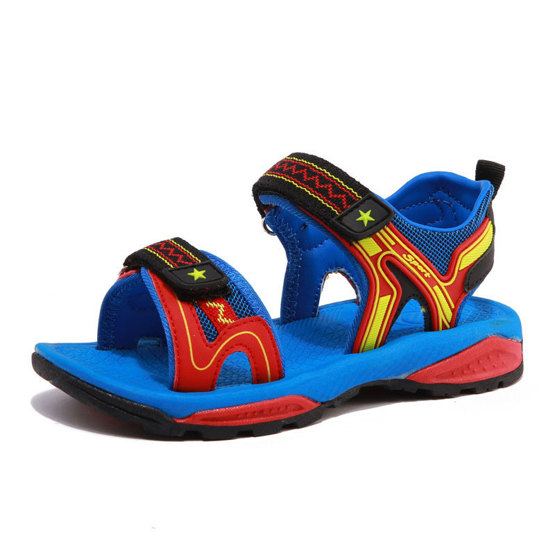 2018 New Kids Sandals Childrens Children Shoes Summer Boys New Boys Fashion High Quality Leather Shoes Sandals Size 26-36