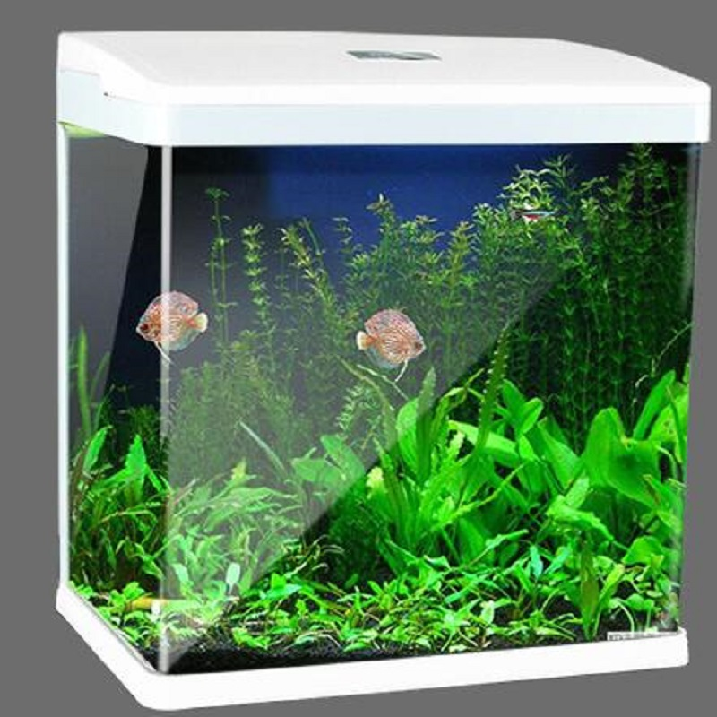 2019 new high tech Touch discoloration LED fish tank Desktop ecological landscape goldfish aquarium tank 15w - 2