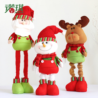 1 Pcs Super Cute Christmas Doll 80cm Retractable Snowman Ornament Christmas Decorations For Home New Year