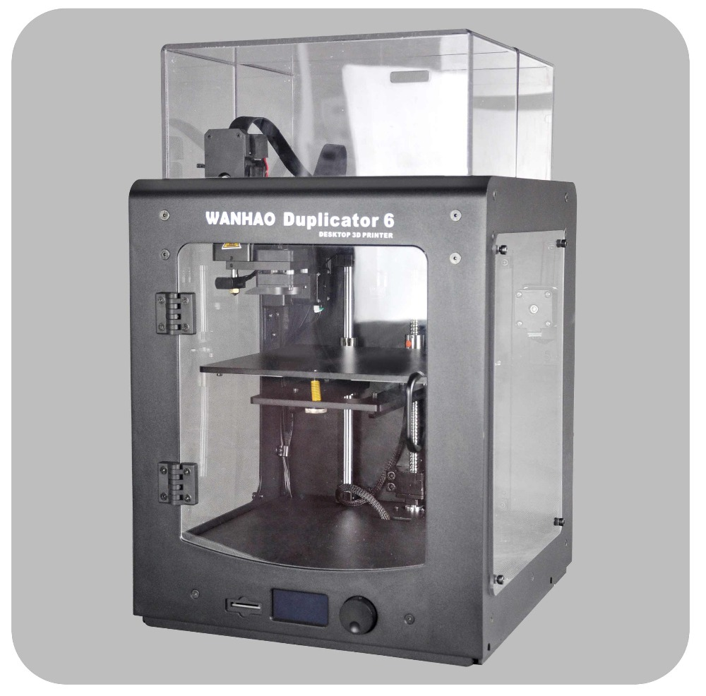 NOUVEAU 2018 WANHAO Duplicateur 6 Plus (en stock, expédition rapide) m200 et isoler couverture Acrylique Inclus 1 kg de Filament PLA