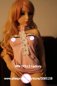 Image 3 - WM DOLLS Top quality 100cm small breasts Anime Silicone Sex Dolls Metal Skeleton full Size Lifelike vagina love dolls for men