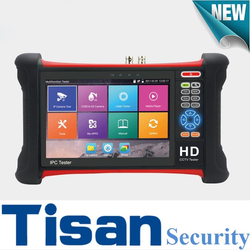 New IP tester 1920*1200 Retina Touch screen CVBS 4K IP 5MP AHD 8MP CVI TVI Camera Tester 5 in 1 cctv tester Security camera