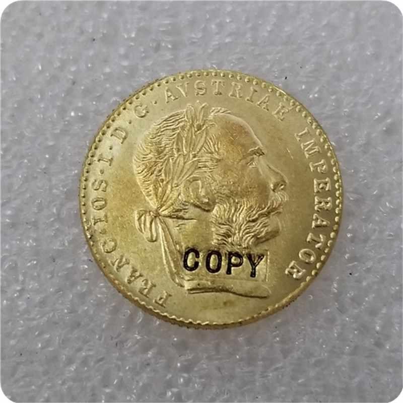 1915 Áo 1 Ducat Vàng Bản Sao Đồng Tiền Kim Loại Kỷ Niệm-Bản Sao Đồng Tiền Huy Chương Đồng Tiền Sưu Tầm