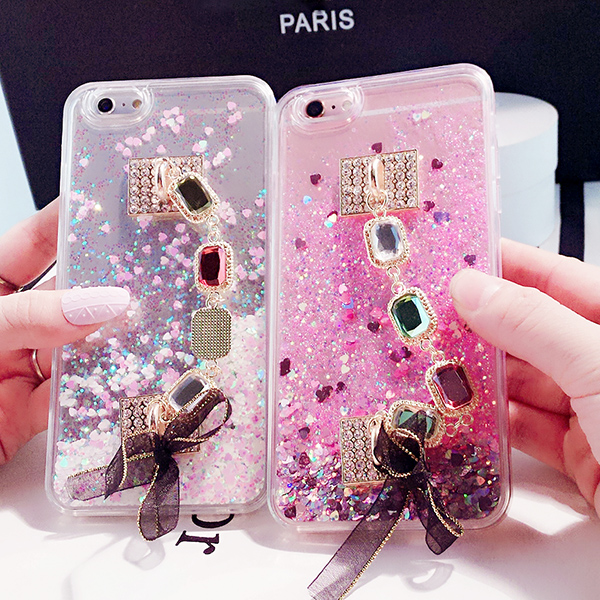 Cellphones & Telecommunications For Samsung Galaxy Note 5 Phone Cases Cover With Chain Dynamic Liquid Glitter Sand Soft Tpu Silicone Cover