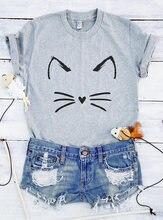 Cute Tops Meow T Shirt Cat Unisex Lover Moletom Do Tumblr Aesthetic Wanderlust Tees
