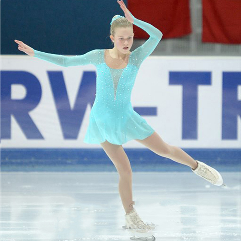 Customization Ice Figure Skating Dress RG Rhythmic Gymnastics Leotard Acro Baton Twirling Tap Color Can Be Chosen By Itself