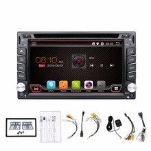 Universal 2 din Android 4.4 Coches reproductor de DVD GPS + Wifi + Bluetooth + Radio + DDR3 + Táctil Capacitiva pantalla + 3G + pc del coche + aduio Quad Core 16G