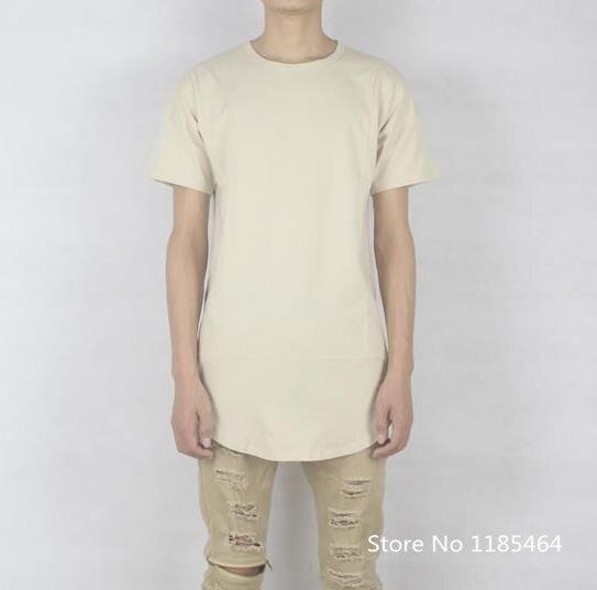 sand beige color t shirt oversized hip hop streetwear kanye west ...