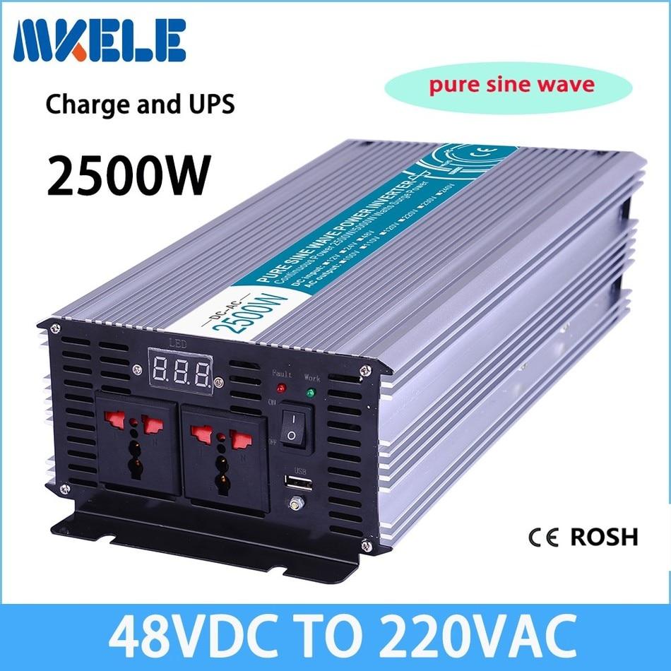 цена на MKP2500-482-C 2500w pure sine wave inverter,220v 48v off-grid solar inverter voltage converter with charger