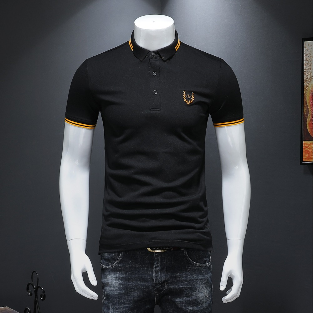 EU Simple Style Fashion Men's   Polo   Shirts 2019 Summer Cotton Classic Solid Short Sleeve US   Polo   Shirt for Men 4XL 19931