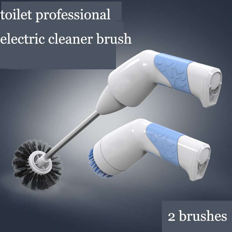 Professional Bathroom Toilet Electric Cleaner Brush Wireless Rechargeable Cleaning Machine Powerful Handy Cleaner Robot lk186 electric rechargeable washing machine kitchen oil cleaning rotating brush handheld wireless waterproof cleaning machine