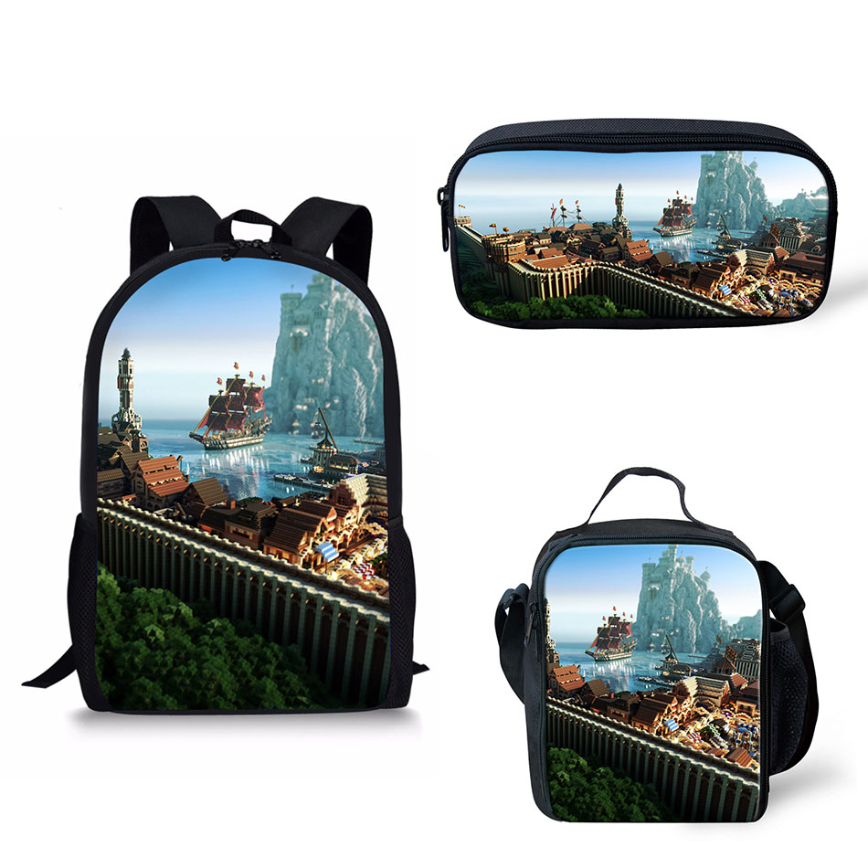 62cbf0ff05 School Bag Backpack Minecraft Roblox Printing Boys Schoolbag Students Book Bags  Kid Teenager Schoolbags Insulated bag