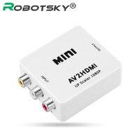 Мини А. В. К HDMI Конвертер AV2HDMI RCA CVBS Аудио Разъем Адаптера для HD Плеер DVD СТБ Проектор С Мини USB Power кабель