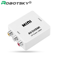 Mini AV To HDMI Converter RCA CVBS Audio AV2HDMI Connector Adapter For HD Player DVD STB