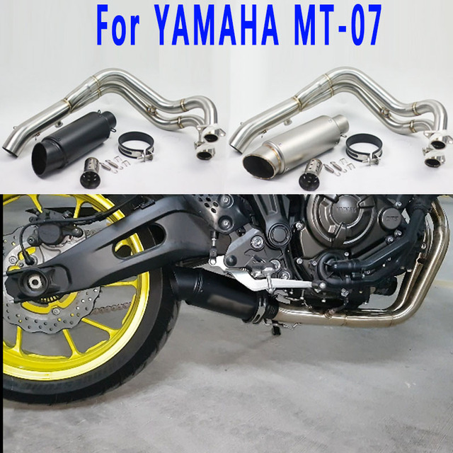 Low Cost MT07 FZ07 Motorcycle Slip On Full System Exhaust