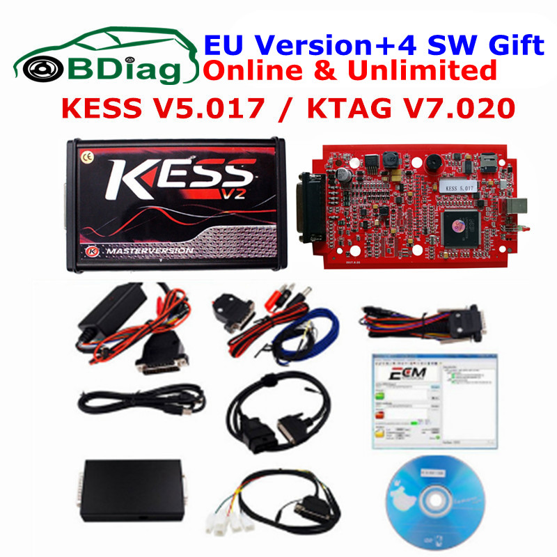 Newest KESS SW V2.23 FW V4.036 Kess V2 OBD2 Manager Tuning Kit NoToken Limit Kess 2 Master version Universal Car ECU Programmer  устройство аккордеона