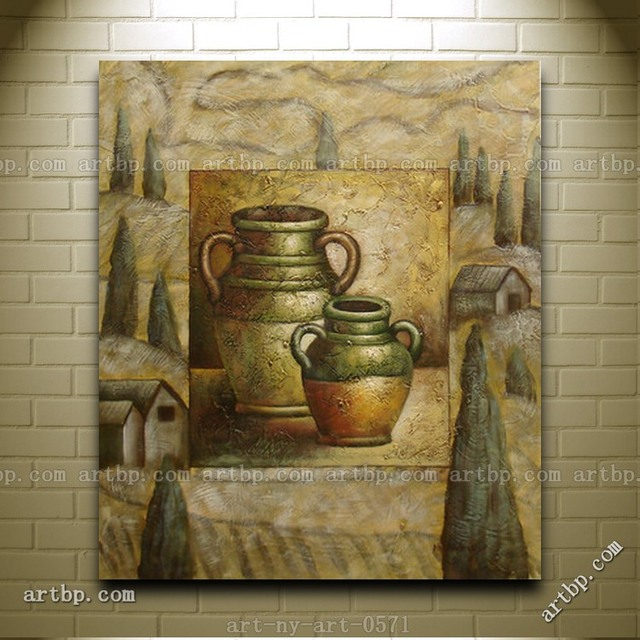 contemporary oil painting of still life containers landscape portrait halloween wall mural patterns decor stickers modern - Halloween Wall Mural