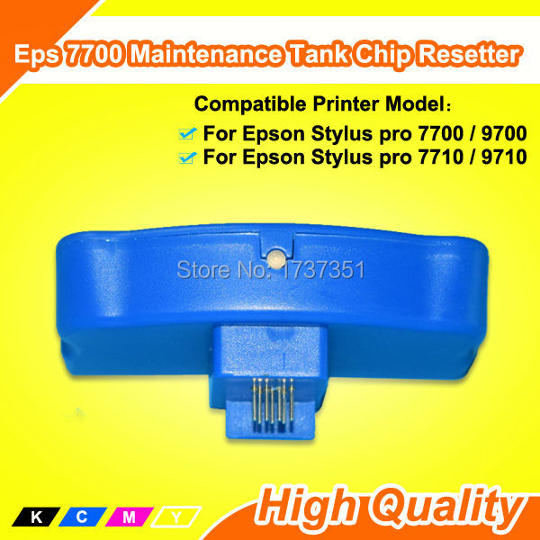 Reset Chip For Epson 7710 Maintenance Tank Chip Resetter waste ink tank chip resetter for epson 9700 7700 7710 9710 printers maintenance tank chip reset