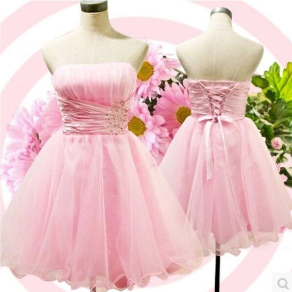 Corto de color rosa dulce 16 sin tirantes del cuello del amor barato ...