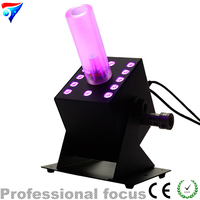 Free Shipping Milky White Column Special Effects 12X3W Led Co2 Jet Easy Multi Angle DMX CO2 Jet Machine Spray Fog