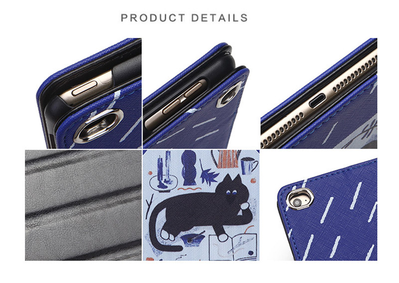 For iPad Air 3 10.5 Inch 2019 hard back Flip smart stand cover pu leather illustration Cute Cartoon case For iPad Pro 10.5 2017 (12)