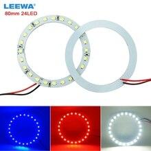 Halo-Ring Led-Headlight Angel-Eye-Lighting Blue 80mm LEEWA White Red 10pcs 24SMD -Ca2668