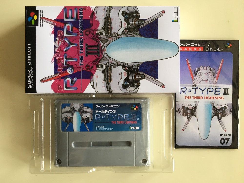 16Bit Games R Type III Japan NTSC J Version Box Manual Cartridge