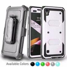 Shockproof Phone Case For LG G Stylo2 X Power LS770 LS775 LS755 K7 Hybrid Armor Cover + Belt Clip Holster Kickstand Heavy Duty