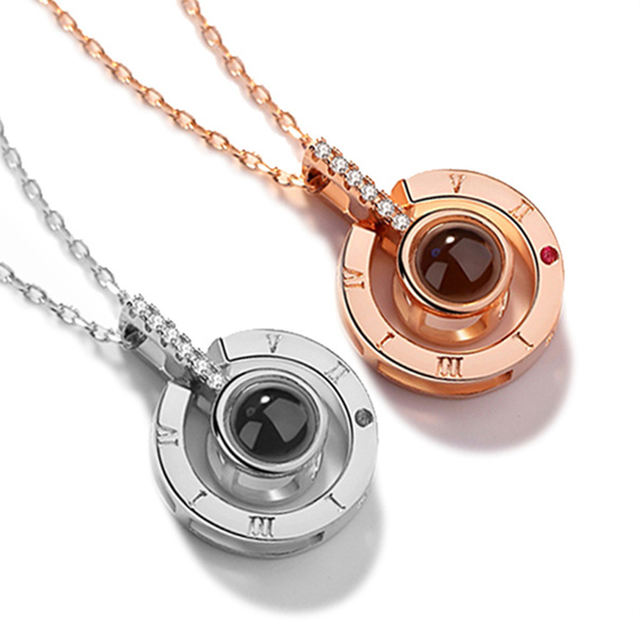 """Elegant Stainless Steel Necklace """"I Love You"""""""