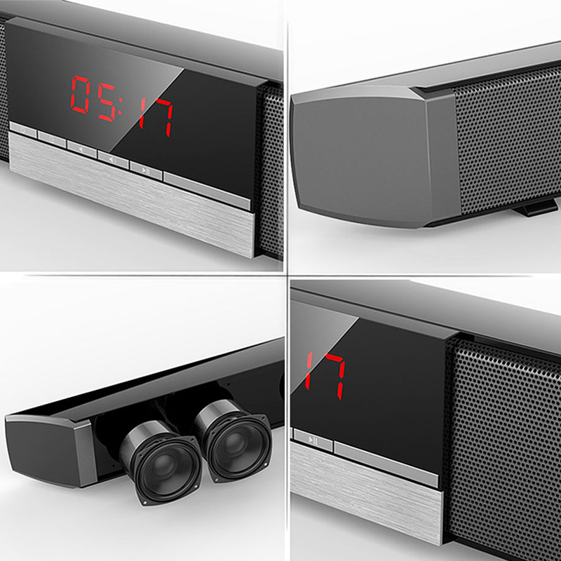 XGODY Soundbar TV Heimkino SR100 Bluetooth Lautsprecher 2,0 Kanal Wireless Audio Für PC Unterstützung Fernbedienung 3,5mm AUX TF USB - 6