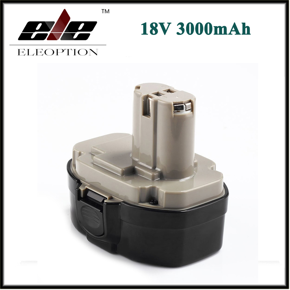 Grey ELEOPTION 18V 3000mAh Ni-MH Replacement Battery for Makita 1822 1823 1834 1835 192827-3 192829-9 193159-1 193140-2 193102-0 аккумулятор makita 18в 1 9ач nicd 1822 192827 3