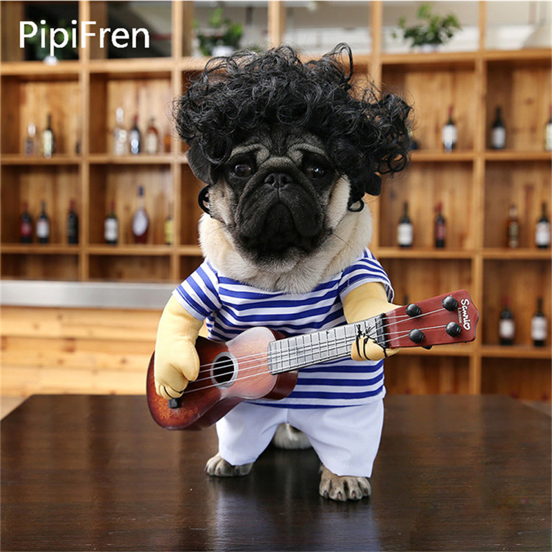 PipiFren Small Dogs Clothes Change Guitar Costume Clothing