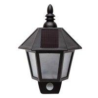 Solar Power LED Wall Mount Light LED Lamp Outdoor Waterproof Light Garden Landscape Path Way Lamp