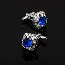 XK439 High high quality French cufflinks Crystal Blue Austria shirt Cufflinks males's wedding ceremony equipment / wholesale / retail /