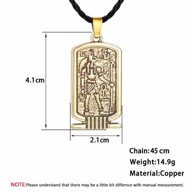 Women Anubis Pendant Necklace Ancient Egypt Religious Jewelry Egyptian  Hieroglyphs Awesome Men Necklace Silver Egypt Charm