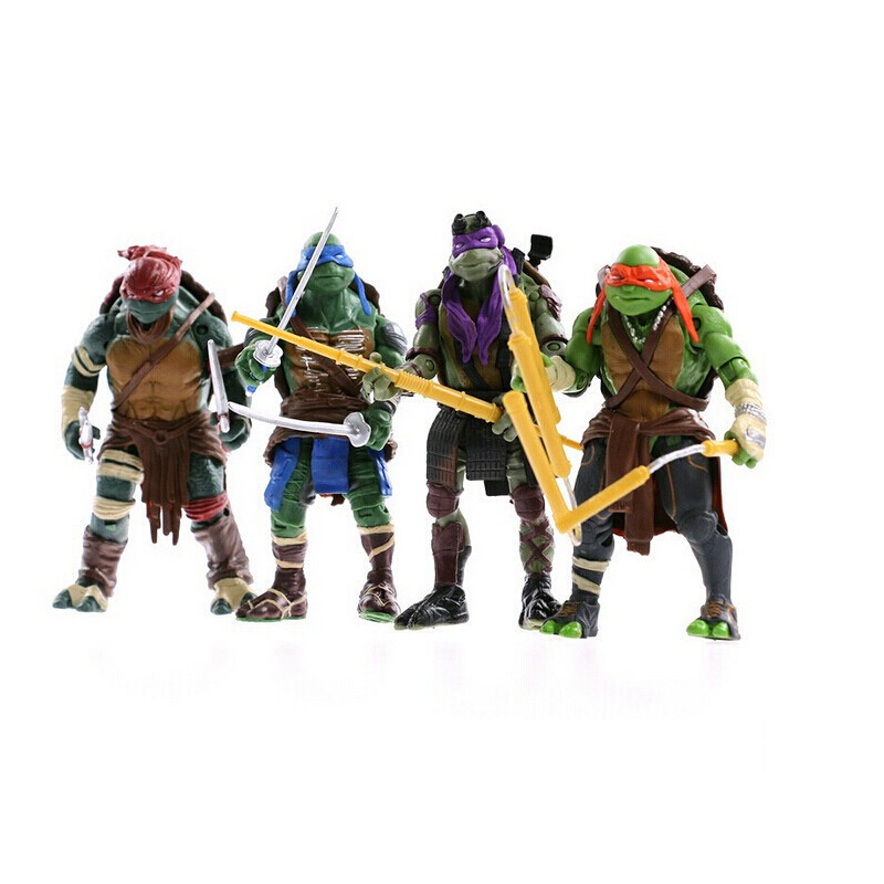 / lot TNMT teenage mutant ninja turtles toy doll gift articles model Action Figure Furnishing movable joints 86682