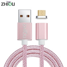 Zhiou Magnetic Micro USB Cable Fast Charging USB Data Charger Cable 1m Mobile Phone Cable for Samsung Xiaomi LG Android Phone 2A