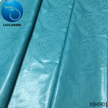 LIULANZHI african bazin riche getzner sky blue tissus patchwork 100% cotton brocade african garment 10 yards/lot for party XB49