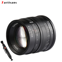 7artisans 55mm/f1.4 Large Aperture Portrait Black Manual Fixed camcorders professional Lens for Fujifilm FX mount X Pro2 T10 T2