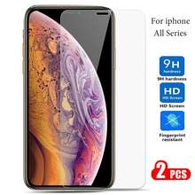 ZOKTEEC Premium Tempered Glass on the s For iPhone Xs Max X Xr Screen Protector 9H HD For iPhone Xs max Protective Film Case(China)