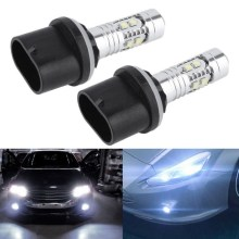 2Pcs COB Car Led Fog Light Blubs 880 884 885 890 892 893 899 6000K White 360 Degree 1800LM/Bulb Auto Lights Vehicle Fog Lamp